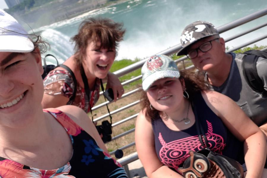 Bridal Veil Falls vanaf Luna Island